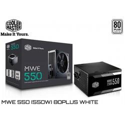FUENTE PODER COOLER MASTER MWE 550 (550W) 80PLUS WHITE