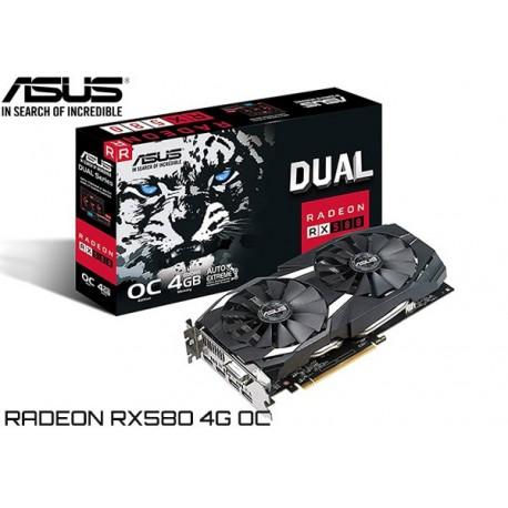 T.V. ASUS RADEON RX 580 DUAL 4G OC EDITION