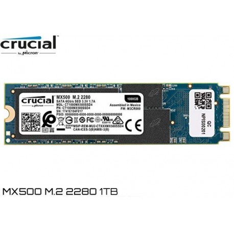 1000GB M.2 2280 SSD CRUCIAL MX500 (CT1000MX500SSD4)
