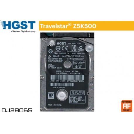 "HDD 500GB 2.5"" SATA6 7MM HGST (HTS545050A7E680 / 0J38065)"