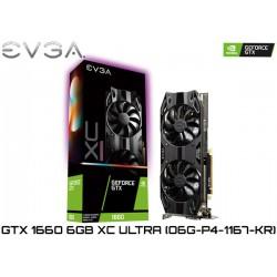 T.V. EVGA GEFORCE GTX 1660 XC ULTRA 6GB GDDR6 192BIT (06G-P4-1167-KR)