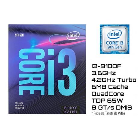 3.6GHz INTEL I3-9100F 6MB CACHE (LGA1151) 9NA GEN (COFFE LAKE)