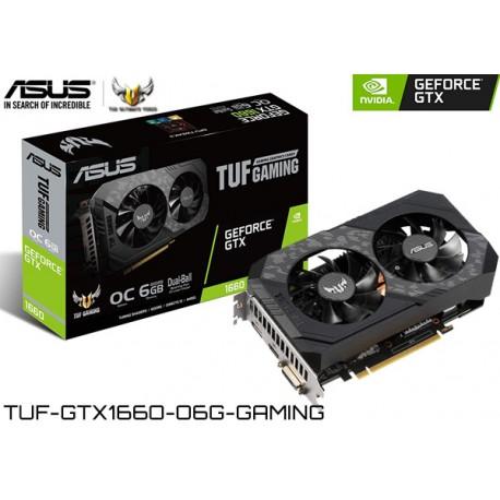 T.V. ASUS TUF GAMING GEFORCE GTX 1660 OC EDITION 6GB GDDR5 192BIT (TUF-GTX1660-O6G-GAMING)