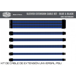 COOLER MASTER SLEEVED EXTENSION KIT (BLACK-BLUE)