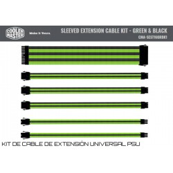 COOLER MASTER SLEEVED EXTENSION KIT (BLACK-GREEN)