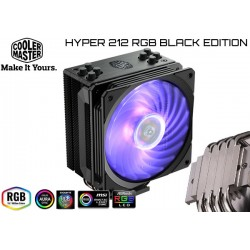 CPU COOLER COOLER MASTER HYPER 212 RGB BLACK EDITION