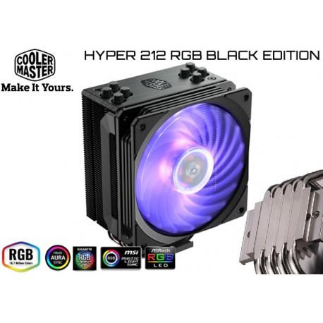 CPU COOLER COOLER MASTER HYPER 212 RGB BLACK EDITION