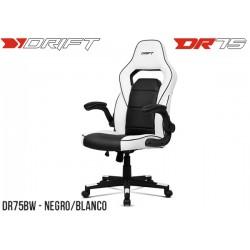 SILLA GAMER DRIFT DR75 BLACK/WHITE (DR75BW)