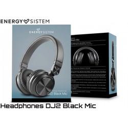 AURICULARES ENERGY SISTEM HEADPHONES DJ2 BLACK MIC
