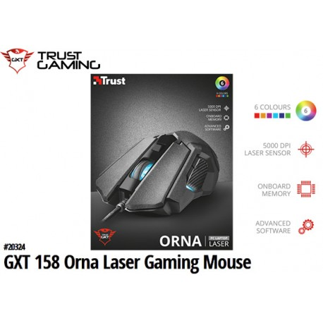 MOUSE TRUST GXT 158 ORNA LASER GAMING 5000DPI