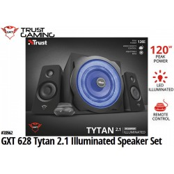 PARLANTES TRUST GXT 628 TYTAN 2.1 ILLUMINATED SPEAKER SET