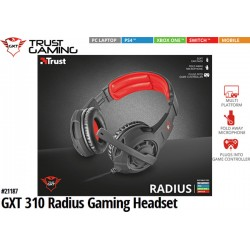 AURICULARES TRUST GXT 310 RADIUS GAMING HEADSET (PC/PS4/ONE/SWITCH/MOBILE)
