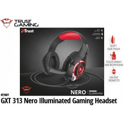 AURICULARES TRUST GXT 313 NERO ILLUMINATED GAMING HEADSET
