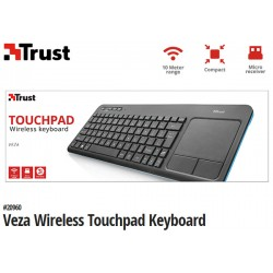 TECLADO TRUST VEZA WIRELESS TOUCHPAD KEYBOARD