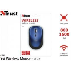 MOUSE TRUST YVI WIRELESS (BLUE)