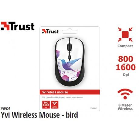 MOUSE TRUST YVI WIRELESS (BIRD)