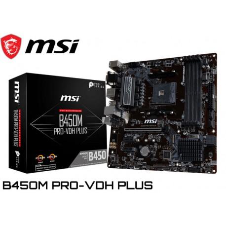 M.B. MSI B450M PRO-VDH PLUS (AM4) DDR4 (RYZEN)
