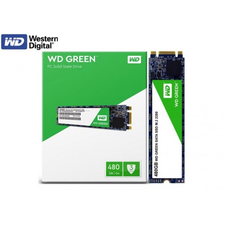 480GB M.2 SSD WESTERN DIGITAL GREEN (WDS480G2G0B) 545MB LECTURA