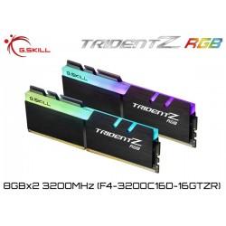 16GB DDR4 3200MHz (8GBx2) G.SKILL TRIDENT Z RGB (F4-3200C16D-16GTZR)