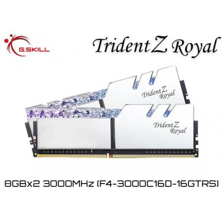 16GB DDR4 3000MHz (8GBx2) G.SKILL TRIDENT Z Royal (F4-3000C16D-16GTRS)