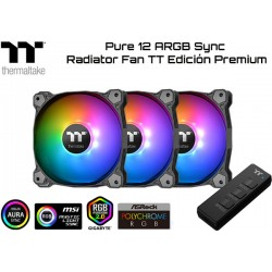 KIT THERMALTAKE PURE 12 ARGB SYNC RADIATOR FAN TT PREMIUM EDITION (3xFAN 120MM ARGB)