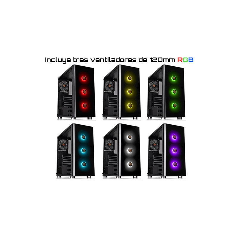Thermaltake V200 Tempered Glass RGB Edition (CA-1K8-00M1WN-01)