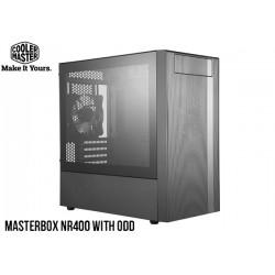 GABINETE COOLER MASTER MASTERBOX NR400 TG (MICRO ATX) WITH ODD