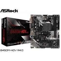 M.B. ASROCK B450M-HDV R4.0 (AM4) DDR4 (RYZEN)