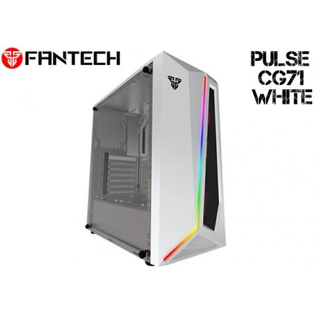 GABINETE FANTECH PULSE CG71 (RGB) TEMPERED GLASS (WHITE)