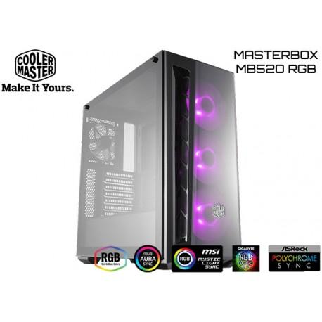 GABINETE COOLER MASTER MASTERBOX MB520 RGB TG (ATX)