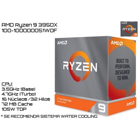AMD RYZEN 9 3950X 3.5GHz (4.7GHz TURBO) SIXTEEN CORE (TDP 105W) (AM4)