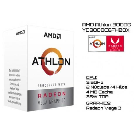 AMD ATHLON 3000G 3.5GHz DUAL CORE + RADEON VEGA 3 (TDP 35W) (AM4) (BOX)
