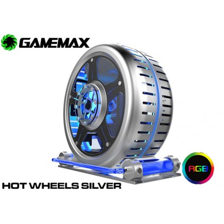 GABINETE GAMEMAX HOT WHEELS SILVER (WITH WATER COOLING)