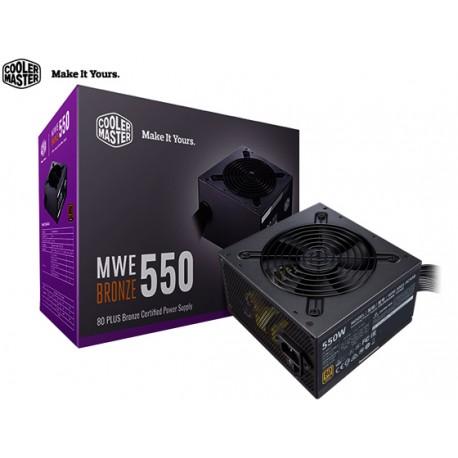 FUENTE DE PODER COOLER MASTER MWE BRONZE 550 (550W)