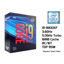 3.6GHz INTEL CORE I9-9900KF 16MB CACHE (LGA1151) 9NA GEN (COFFE LAKE) (UNLOCKED)