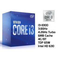 3.6GHz INTEL I3-10100 (4.3GHz TURBO, 4C/8T, 6MB CACHE, 65W, LGA1200) 10MA GENERACION
