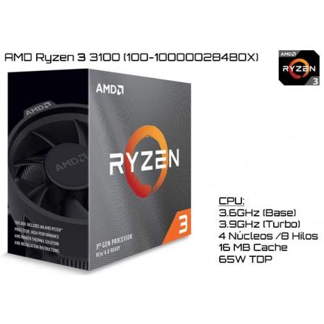 AMD RYZEN 3 3100 3.6GHz (3.9GHz TURBO) QUAD CORE (TDP 65W) (AM4)