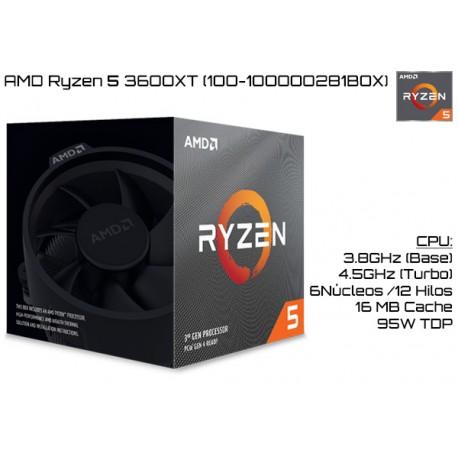 AMD RYZEN 5 3600XT 3.8GHz (4.5GHz TURBO) SIX CORE (TDP 95W) (AM4)