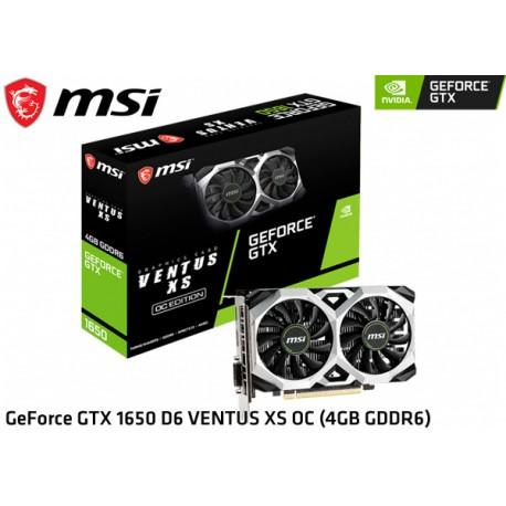 T.V. MSI GEFORCE GTX 1650 D6 VENTUS XS OC 4GB GDDR6