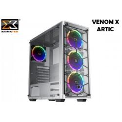 GABINETE XIGMATEK VENOM X ARTIC WHITE (E-ATX) (RAINBOW FAN LED)