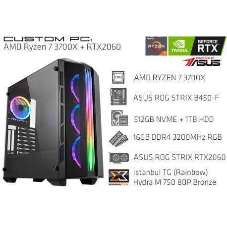 CustomPC (AMD Ryzen 7 3700X): 16GB, 512GB SSD NVME, 1TB HDD, RTX 2060 6GB