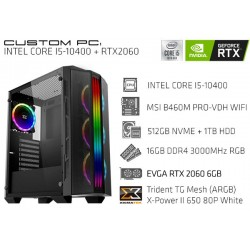 CustomPC (INTEL Core I5-10400): 16GB, 512GB SSD NVME, 1TB HDD, RTX 2060 6GB
