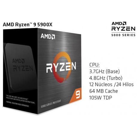 AMD RYZEN 9 5900X 3.7GHz (4.8GHz TURBO) TWELVE CORE (TDP 105W) (AM4)