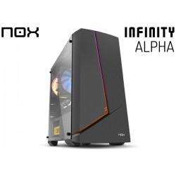 GABINETE NOX INFINITY ALPHA TG (ATX) (1x120MM FAN)