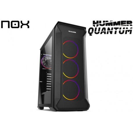 GABINETE NOX HUMMER QUANTUM TG (ATX) (1x120MM FAN)