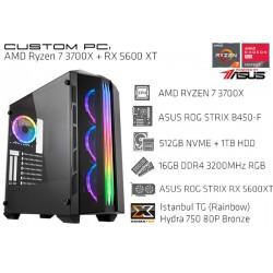CustomPC (AMD Ryzen 7 3700X): 16GB, 512GB SSD NVME, 1TB HDD, RX 5600 XT 6GB
