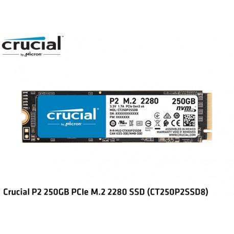 250GB M.2 SSD NVMe PCIE GEN3 X4 CRUCIAL P2 (CT250P2SSD8) (2.100MB/1150MB)