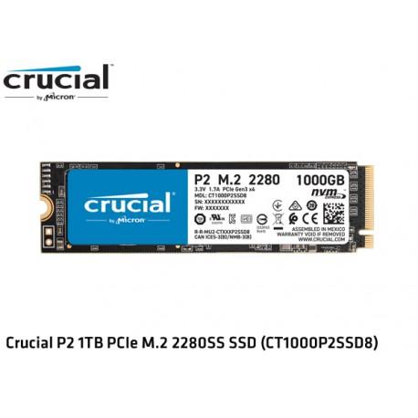 1TB M.2 SSD NVMe PCIE GEN3 X4 CRUCIAL P2 (CT1000P2SSD8) (2.400MB/1800MB)