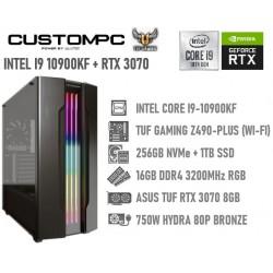 CUSTOMPC (INTEL CORE I9-10900KF): 16GB, 256 NVME, 1TB SSD, RTX 3070 8GB