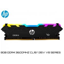 8GB DDR4 3600MHz CL18 1.35V HP V8 RGB SERIES (7EH92AA) BLACK